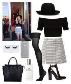 """shopping in London with Perrie"" by kennedey-lynn-freeman ❤ liked on Polyvore featuring Topshop, Zara, Miss Selfridge, Chanel, Georgie Beauty, Case-Mate and ISABEL BENENATO"