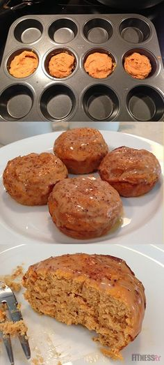 Pumpkin protein cinnamon rolls - only 115 calories!! -- Perfect with coffee on a fall weekend morning.