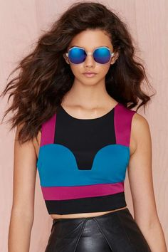 Nasty Gal Bright Away Scuba Top   Shop What's New at Nasty Gal