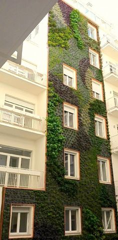 Vertical gardens in the heart of Milan. The city meets the green.