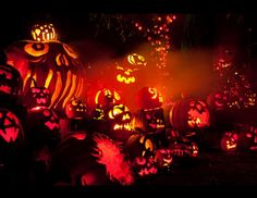 The Jack-o'-Lantern Spectacular at the Roger Williams Park Zoo in Providence, R.I., features 150,000 pounds of gourd. (Courtesy Bill Gallery)