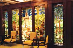 Stained Glass mural inside the Sao Paulo, Brazil LDS Temple