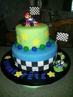 Gâteau anniversaire Mario Bros