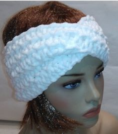Headband Turban White headband Valentine gift di knittyshop