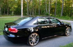 Black & chrome VW Passat. The first purchase I'll be making as a PA <3
