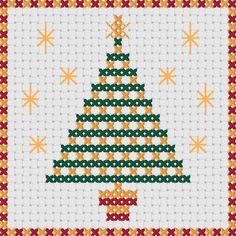 Tarjetas de Navidad punto de Cruz: diseños de por MKDesignArt                                                                                                                                                                                 Más