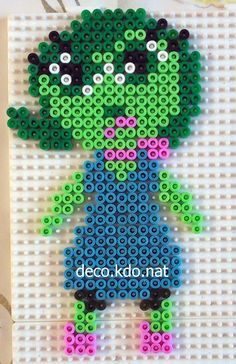 Disgust - Inside Out hama perler beads by Deco.Kdo.Nat - Pattern: https://www.pinterest.com/pin/374291419011012960/