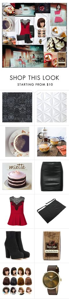 """AOA Excuse Me / Jimin / Waitress Scene"" by bulletproof-wolfie on Polyvore featuring NLXL, Cathy's Concepts, Sur La Table, The Row, City Chic, Gianvito Rossi and Vestal"