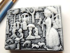 George Seurat ARTISTIC SOAP  Black and White A by thecharmingfrog, $7.00