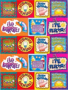 Pegatinas Award Template, Teacher Stickers, Cute Frames, Classroom Language, 1st Day, Teacher Hacks, School Hacks, School Supplies, Art For Kids