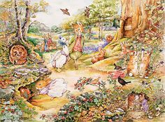 Country Woodlands   No Sign Mural   Beatrix Potter| Murals Your Way