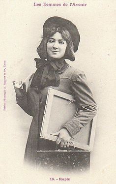 """""""Rapin,"""" from the French """"Women of the Future"""" photo series, 1902. If they only knew."""