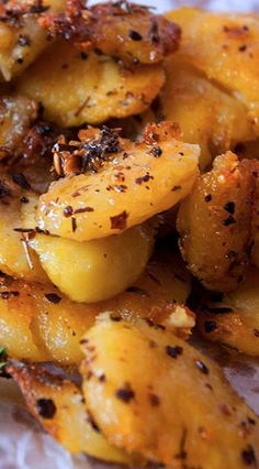Smashed Potatoes with Chili Flakes and Herbs