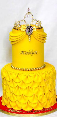 Belle inspired birthday cake