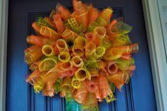 Fall Wreath Fall Wreath Spiral Wreath Fall by RedWithEnvyDes