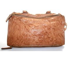 Givenchy Cognac Distressed Leather Large Pandora Messenger Bag