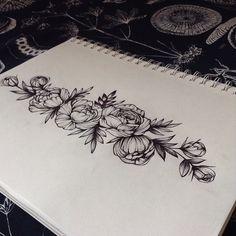 Подвязка на ножку) #эскизтату #эскиз #эскизцветы#flowertattoo #flowerssketch #art #artist_sharing #SPBTATTOO #peonytattoo #peonydotwork