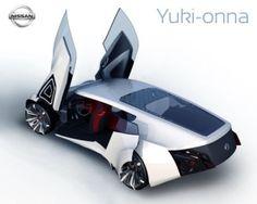 Nissan Yuki-onna, future car, futuristic vehicle, concept, transportation, fantastic by FuturisticNews.com