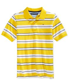 64f9357d81 Tommy Hilfiger Boys' Fred Stripe Polo & Reviews - Shirts & Tees - Kids -  Macy's
