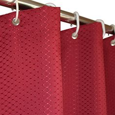 Eforgift Waffle Weave Shower Curtain Polyester Fabric Mildew Resistant Weighted Bathroom With Plastic Rings Stall