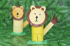 4 Fun Zoo-Themed Party Crafts for Kids (and 1 for Mom) · Kix Cereal Kids Crafts, Giraffe Crafts, Toddler Arts And Crafts, Animal Crafts For Kids, Bunny Crafts, Crafts For Kids To Make, Easy Crafts, Jungle Theme Parties, Party Themes