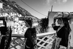 The transportation of the groom's dowry to the bride's place, where they are going to live for their new life as a couple. Olympos. Karpathos island. Dodecanese. Greece. Photo by George  Tatakis.