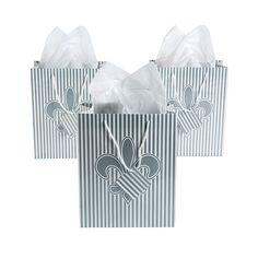 Fleur De Lis Medium Gift Bags - OrientalTrading.com