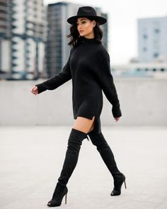 8892e16631 Image by Micah Gianneli and Jesse Maricic - micahgianneli.com Thigh High  Boots Dress