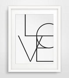 Typography Poster Word Art Wall Words Love von MelindaWoodDesigns