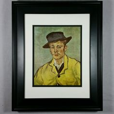 Portrait of Armand Roulin by Vincent Van Gogh - Wall Print (Matted & Framed NEW) #Impressionism