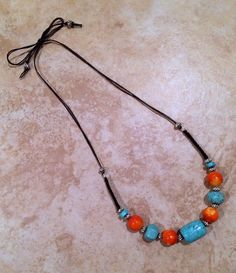 A personal favorite from my Etsy shop https://www.etsy.com/listing/255769943/boho-necklace-stone-necklace-turquoise