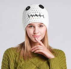Jack Skellington knit winter hats for girls The Nightmare Before Christmas