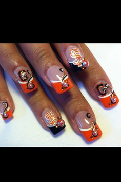 SF GIANTS NAILS! | beautiful designs | Pinterest | Sf giants nails ...