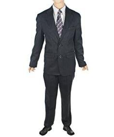 Perry Ellis Portfolio Boys 4-20 2 Piece Set Stripe Suit $69.99