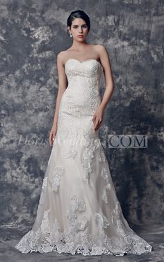 Inspired Traditional Sweetheart Mermaid Lace Wedding Dress 2016 with Vintage Style #Doris #Wedding #Lace #Wedding #Dress #Unique #Wedding
