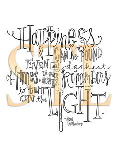happiness - albus dumbledore