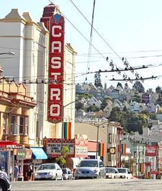 "tripYIP.com - ""Fun Things To Do!"" loves SAN FRANCISCO, CA:  FAMOUS CASTRO STREET  A vibrant community, saturated with very popular shops and bars that fill the streets."