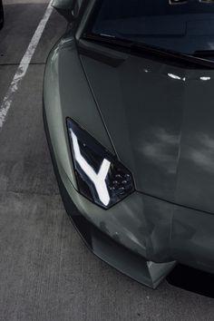 Charcoal Grey Aventador | via