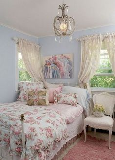 Romantic Shabby Chic Bedroom Decorating Ideas (47)