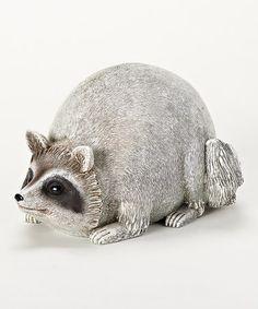 Look what I found on #zulily! Raccoon Garden Statue #zulilyfinds