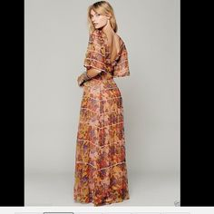 "Selling this ""Free People Piped Flutter Sleeve Maxi Dress NWT 2"" in my Poshmark closet! My username is: richbororiches. #shopmycloset #poshmark #fashion #shopping #style #forsale #Free People #Dresses & Skirts"