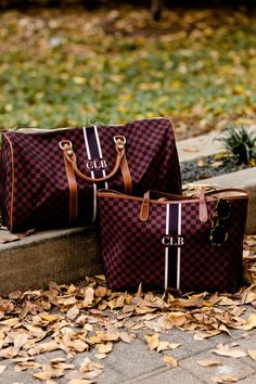 Barrington Gifts St. Anne tote and Belmont Cabin Bag // Christmas Gift Idea // Louis Vuitton Damier dupes