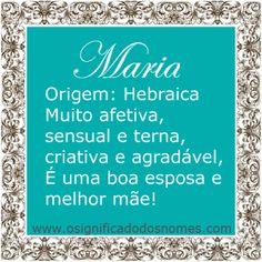 Maria | Significado dos Nomes