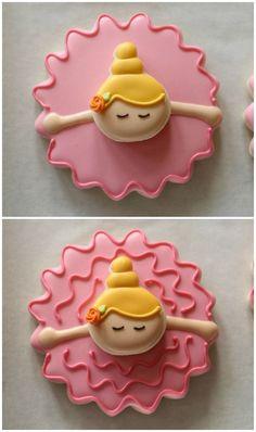 Bowing Ballerina Cookies Tutorial