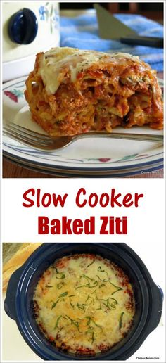 Crock Pot Baked Ziti with Three Cheeses - {Eats} Slow Cooker/Instant Pot Recipes - Easy Ground Slow Cooker Baked Ziti, Crock Pot Slow Cooker, Slow Cooker Recipes, Crockpot Recipes, Cooking Recipes, Cooking Games, Rockcrok Recipes, Slow Cooker Pasta, Cooking Rice