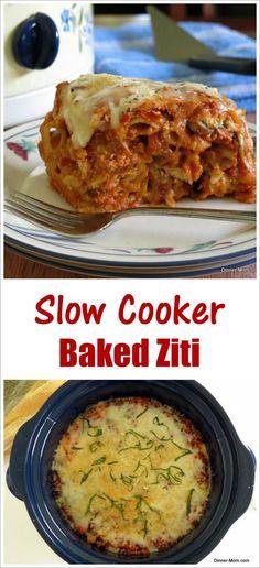 Crock Pot Baked Ziti Recipe