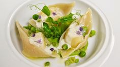 Bring some spring to your supper table with these whipped ricotta and English pea tortellini, bursting with bright, seasonal flavors.
