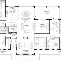 Floor Plan Friday: 4 bedroom with side garage Garage, Floor Plans, Friday, Flooring, Dreams, How To Plan, Bedroom, Carport Garage, Wood Flooring