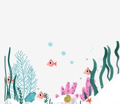 seaweed,coral,starfish,hand drawn sea bottom,marine life,undersea illustration,hand painted,decorative pattern,underwater world,small fish Underwater Room, Underwater Flowers, Underwater World, Happy Birthday Chalkboard, Fish Background, Sea Drawing, Pool Paint, Watercolor Cards, Watercolour