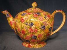 Royal Winton Chintz chin SWEET PEA Tea Pot